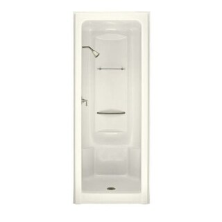 Kohler K-1689 Sonata One-Piece Shower Module with Integral High-Dome Ceiling, Less Grab Bar Kit