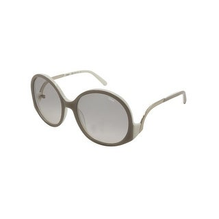 Chloe Womens Emilia Round Sunglasses Designer Oversized - turtledove/cream - o/s