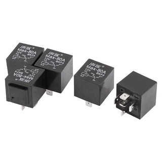 Unique Bargains Car Automotive Truck DC 12V 12 Volt 80A SPDT Relay 5 Pin 5 Pcs