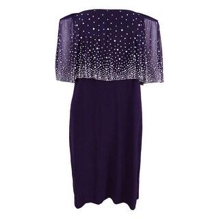 MSK Women's Off-The-Shoulder Embellished Dress
