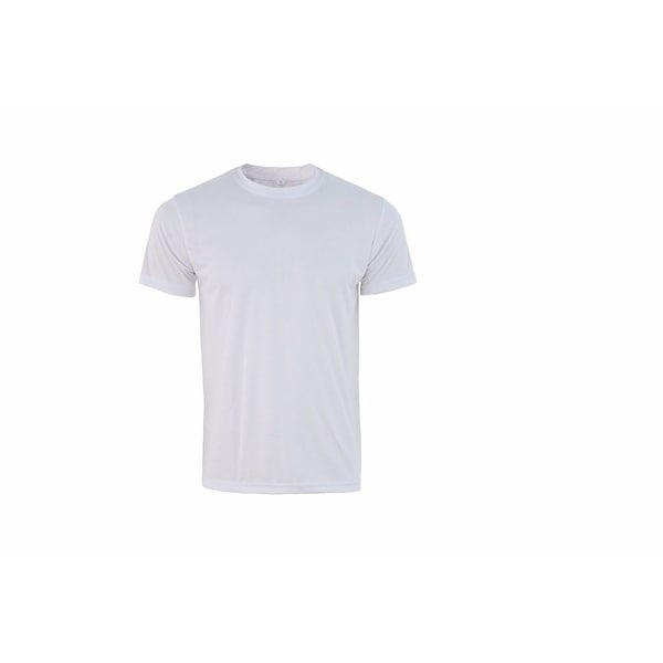 Mens Athletic All Sport Training Tee Shirts Hyper Dry White FSW