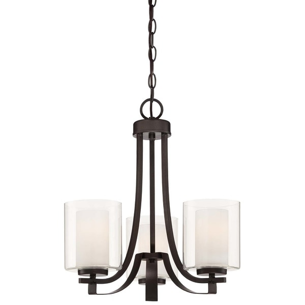 Minka Lavery 4103-172 3 Light 1 Tier Chandelier from the Parsons Studio Collection - smoked iron
