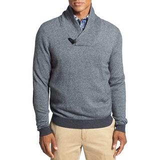 John W. Nordstrom NEW Gray Mens Size 2XL Shawl Collar Cashmere Sweater