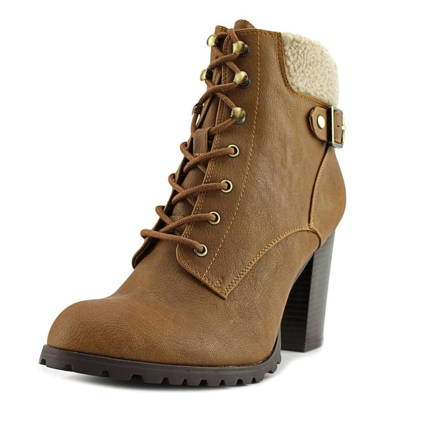 Style & Co Caelie Women Round Toe Leather Brown Ankle Boot
