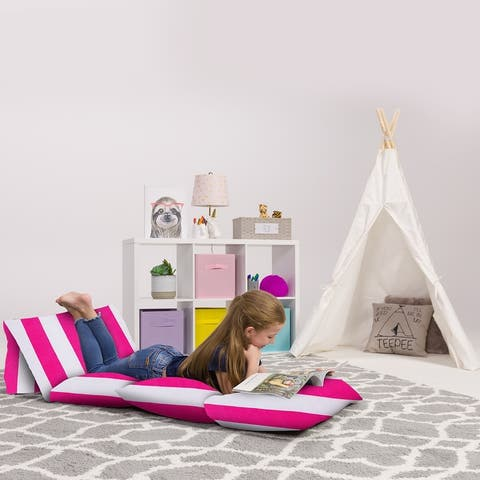 Kids Floor Pillow Cover,Premium Cushion and Lounger Covers for Pillows
