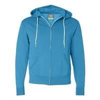 Independent Trading Co. Unisex Hooded Full-Zip Sweatshirt - Turquoise - S