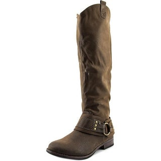 Crown Vintage Bourn Round Toe Canvas Knee High Boot