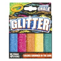 Crayola Glitter Special Effects Chalk, Assorted Colors, Set of 5