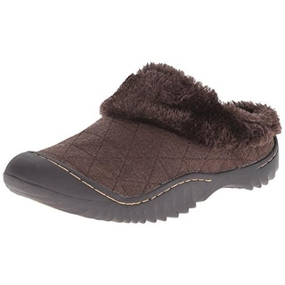 J-41 Womens France Quilted Faux Fur Mules