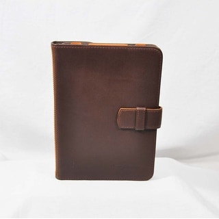 Tommy Bahama Brown Leather with Orange Tablet Case