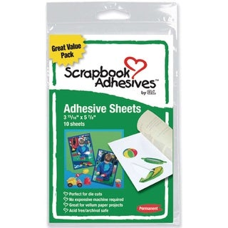 "Scrapbook Adhesives Permanent Adhesive Sheets 10/Pkg-4""X6"""