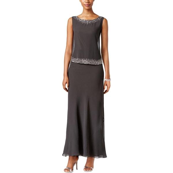 e3ac90f9ac5 Shop J Kara Womens Formal Dress Chiffon Beaded - Free Shipping Today -  Overstock - 17839431