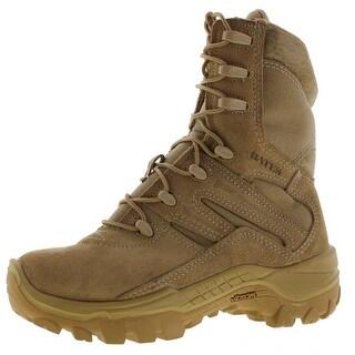 Bates Mens Combat Boots Suede Mid-Calf - 4 medium (d)