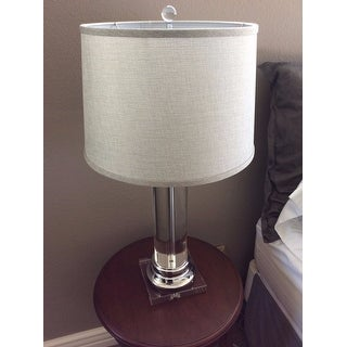 Crystal column table lamp overstock best inspiration for table lamp crystal column table lamp with grey shade free shipping today aloadofball Choice Image