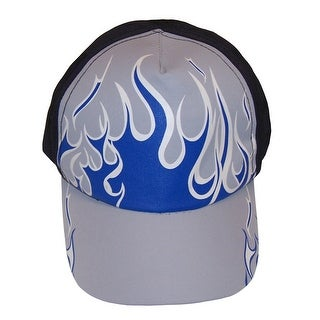 NICE CAPS Boys Magical Color Changing Flame Printed Ball Cap - black/grey/navy/white changes to another colorway