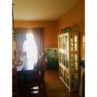 Superieur ... Simple Living Glass Door Stackable Cabinet   25 X 42 X 14