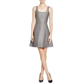 Theory Womens Trekana Casual Dress Textured Sleeveless