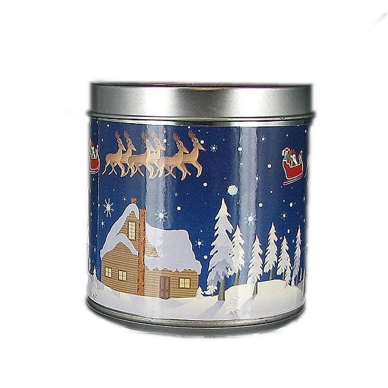 Scented Christmas Musical Jar Candle Cinnamon Spice
