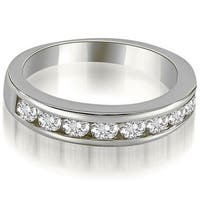 1.15 CT Classic Channel Round Cut Diamond Wedding Ring in 14KT Gold
