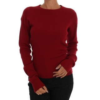 Dolce & Gabbana Dolce & Gabbana Bordeaux Cashmere Knit Pullover Sweater - it40-s