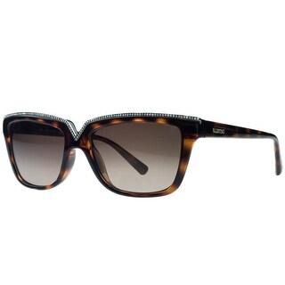 Valentino V646/SR 215 Dark Havana Rectangular Sunglasses