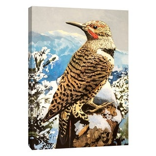 """PTM Images 9-105457  PTM Canvas Collection 10"""" x 8"""" - """"Northern Flicker"""" Giclee Birds Art Print on Canvas"""