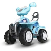 Gymax Kids Ride On Quad 6V Battery Power Toy Car Electric 4 Wheel Power Bicycle Blue
