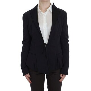 EXTE Black Stretch Single Breasted Blazer Jacket