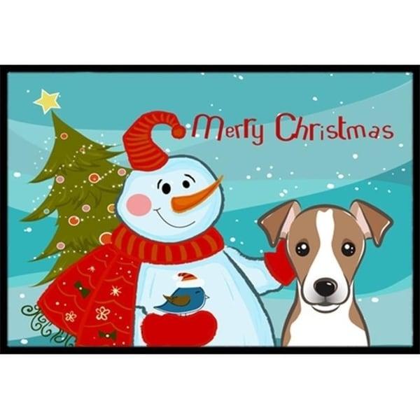 Carolines Treasures BB1880JMAT Snowman With Jack Russell Terrier Indoor & Outdoor Mat 24 x 36 in.