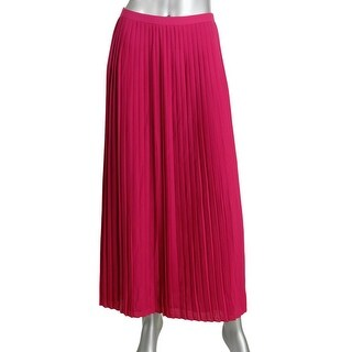 Tommy Hilfiger Womens Knife Pleat Full Length Maxi Skirt