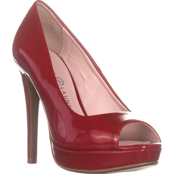 177e8695f2 Shop Chinese Laundry Haley Peep Toe Pumps, Red - On Sale - Free ...