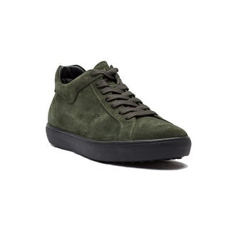 Tod's Men's Suede Allaciato Fondo Casseta Ungru Sneaker Shoes Olive Green