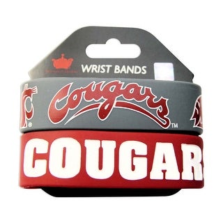 Washington State Cougars Rubber Wrist Band (Set of 2) NCAA
