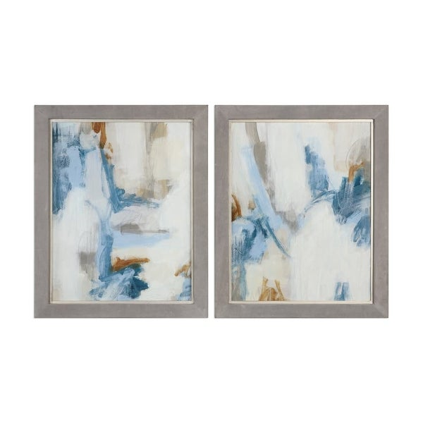 Shop Uttermost 41493 Intermittent Two Piece Framed Abstract Painting ...
