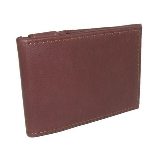 DOPP Men's Leather Milan Thinfold Card Case with Interior Money Clip - Brown - One Size