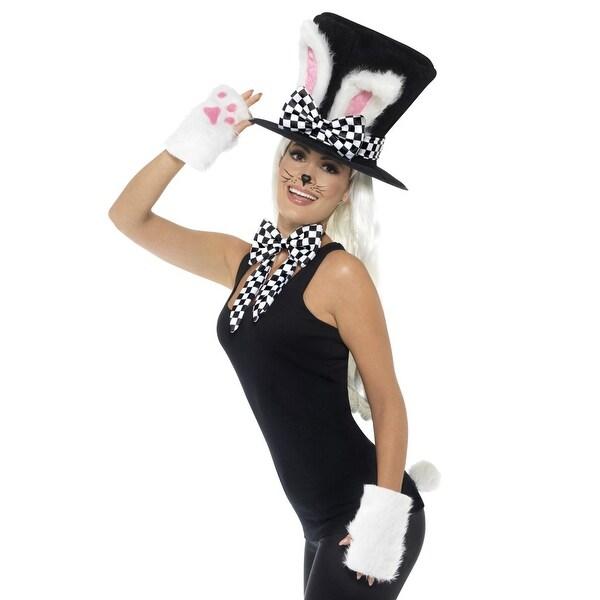 ebbe79997c Smiffy Tea Party March Hare Costume Kit - BLACK/WHITE