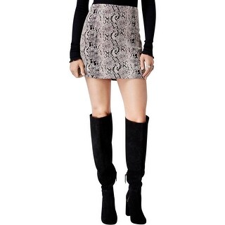 Free People Womens Mini Skirt Jacquard Woven