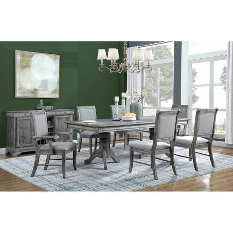 Darcy Weathered Ash and Grey 5-piece Dining Set