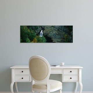 Easy Art Prints Panoramic Images's 'View of a waterfall, Linville Falls, Blue Ridge Parkway, North Carolina' Canvas Art