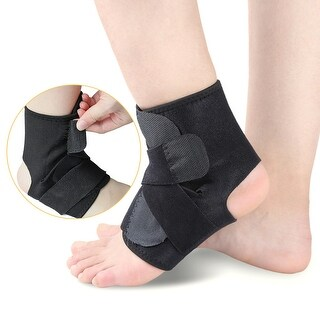 Open-Heel Compression Ankle Arch Support Brace Sleeve Foot Protective Wrap One Size