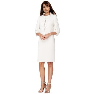Tahari ASL Lace Sheath Dress and Jacket Suit - 12
