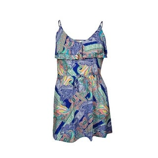 Kenneth Cole REACTION Women's Printed Ruffled Belted Swim Cover