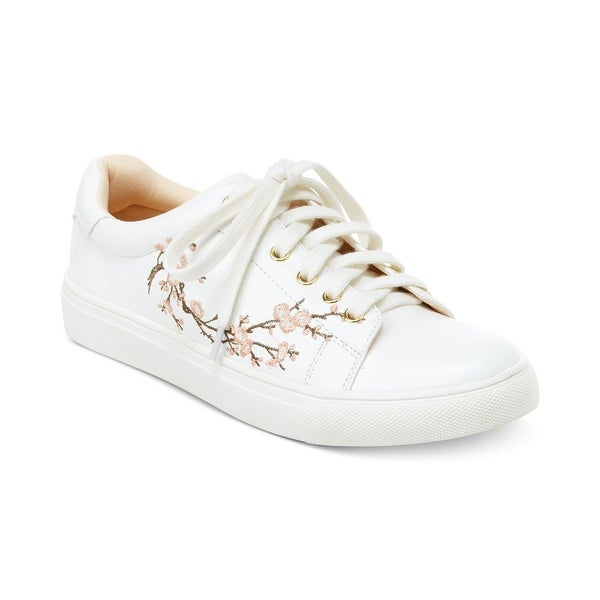 Nanette Lepore Womens Winona Leather Low Top Lace Up Fashion Sneakers