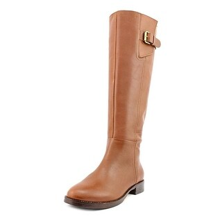 INC International Concepts Womens Coco Leather Almond Toe Mid-Calf Fashion Bo...