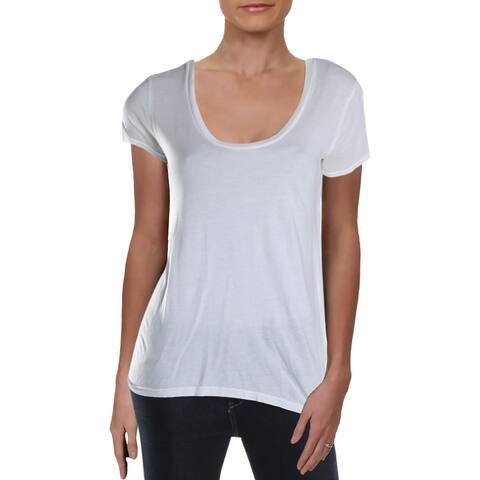 Splendid Womens T-Shirt Scoop Neck Micromodal Blend