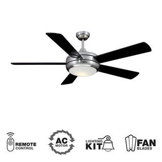 "Ellington Fans TIT52SCH5LKRCX Modern 52"" 5 Blade Indoor Ceiling Fan - Blades, Light Kit and Remote Control Included"