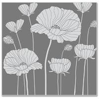 """Poppy Background - Hero Arts Cling Stamps 4""""X3.75"""""""