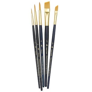 Princeton 9139 Economy Assorted Trim Paint Brush Set, Assorted Size, Blue, Set of 5