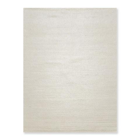 "Hand Woven Boho Chic Cream, Braided Area Rug Wool Contemporary Oriental Area Rug (5x7) - 5'6"" x 7'6"""
