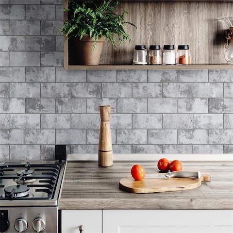 SomerTile Biarritz Grey 3 in. x 6 in. x 9mm Ceramic Wall Tile